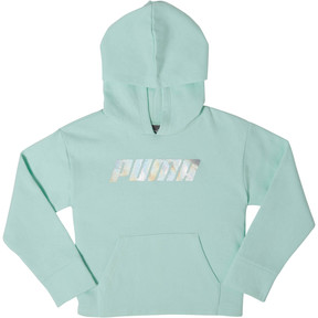 Thumbnail 1 of Little Kids' Fleece Pullover Hoodie, FAIR AQUA, medium