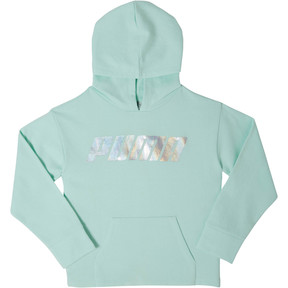 Thumbnail 1 of Girls' Fleece Pullover Hoodie JR, FAIR AQUA, medium