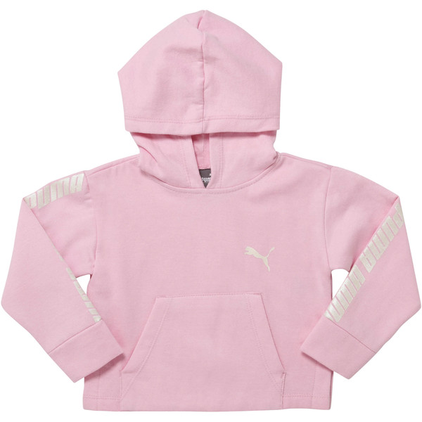 Girl's Fleece Pullover Hoodie INF, PALE PINK, large