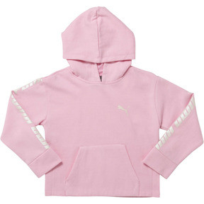 Thumbnail 1 of Girl's Fleece Pullover Hoodie PS, PALE PINK, medium