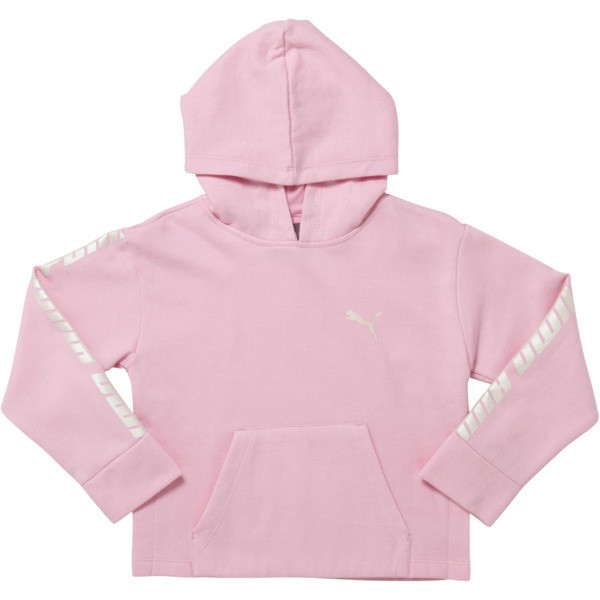 Girl's Fleece Pullover Hoodie PS, PALE PINK, large