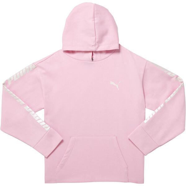 Girl's Fleece Pullover Hoodie JR, PALE PINK, large