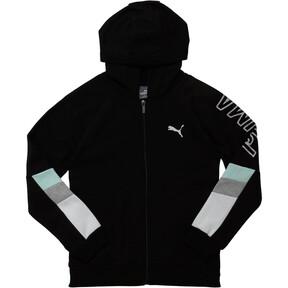 Girls' Fleece Colorblock Full Zip Hoodie JR