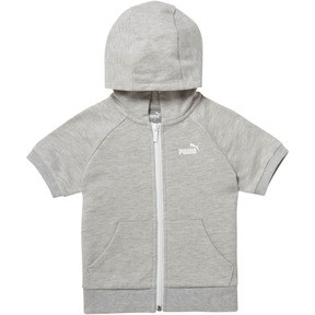 Thumbnail 1 of Girl's Full Zip Short Sleeve Hoodie INF, LIGHT HEATHER GREY, medium