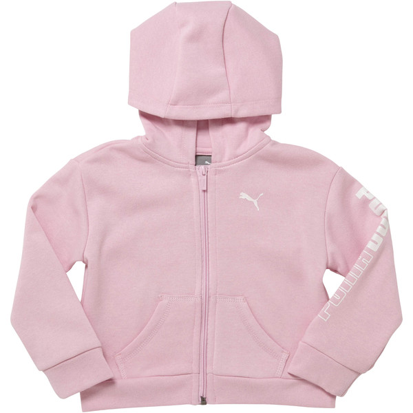 Toddler Fleece Full Zip Hoodie, PALE PINK, large