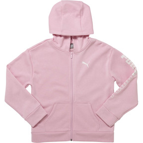 Thumbnail 1 of Girls' Fleece Full Zip Hoodie JR, PALE PINK, medium