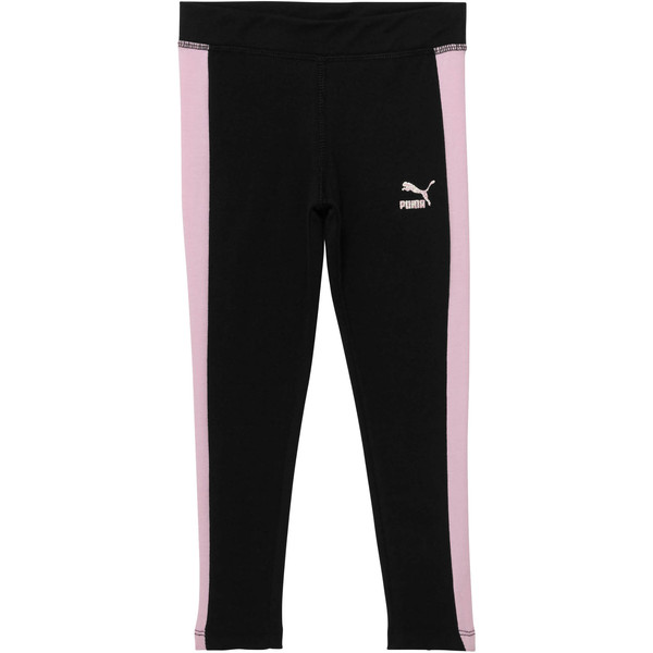 Little Kids' Spandex T7 Leggings, PUMA BLACK, large