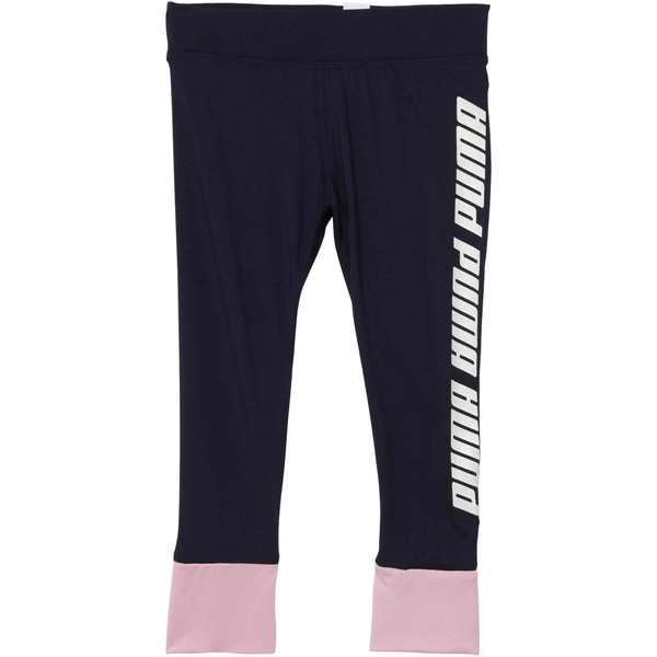 Girl's Contrast Spandex Fashion Leggings INF, PEACOAT, large
