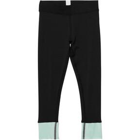 Thumbnail 1 of Girl's Contrast Spandex Fashion Leggings PS, PUMA BLACK, medium