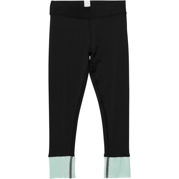 Girl's Contrast Spandex Fashion Leggings PS, PUMA BLACK, large