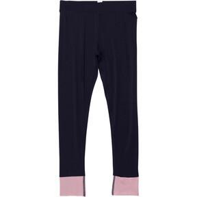 Thumbnail 1 of Girls' Contrast Spandex Fashion Leggings JR, PEACOAT, medium