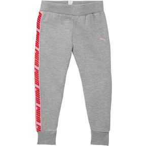 Thumbnail 1 of Little Kids' Fleece Joggers, LIGHT HEATHER GREY, medium