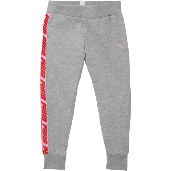 Little Kids' Fleece Joggers, LIGHT HEATHER GREY, large