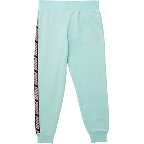 Thumbnail 1 of Girl's Fleece Joggers JR, FAIR AQUA HEATHER, medium