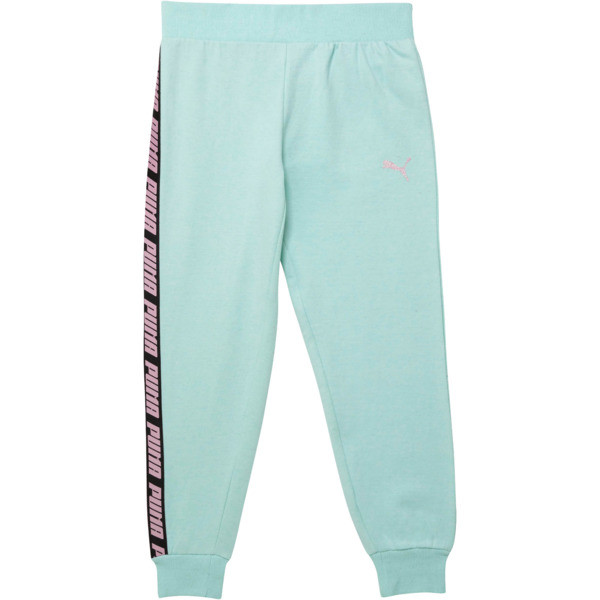 Girl's Fleece Joggers JR, FAIR AQUA HEATHER, large