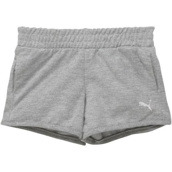 Toddler French Terry Shorts, LIGHT HEATHER GREY, large