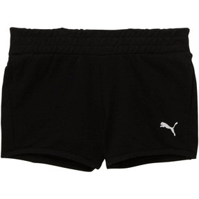 Thumbnail 1 of Girl's French Terry Shorts PS, PUMA BLACK, medium
