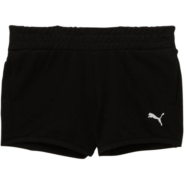 Little Kids' French Terry Shorts, PUMA BLACK, large