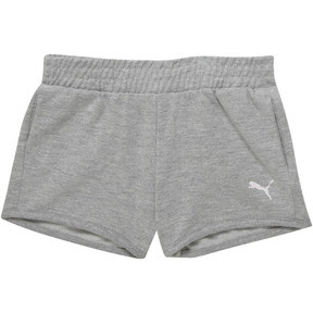Thumbnail 1 of Girl's French Terry Shorts PS, LIGHT HEATHER GREY, medium