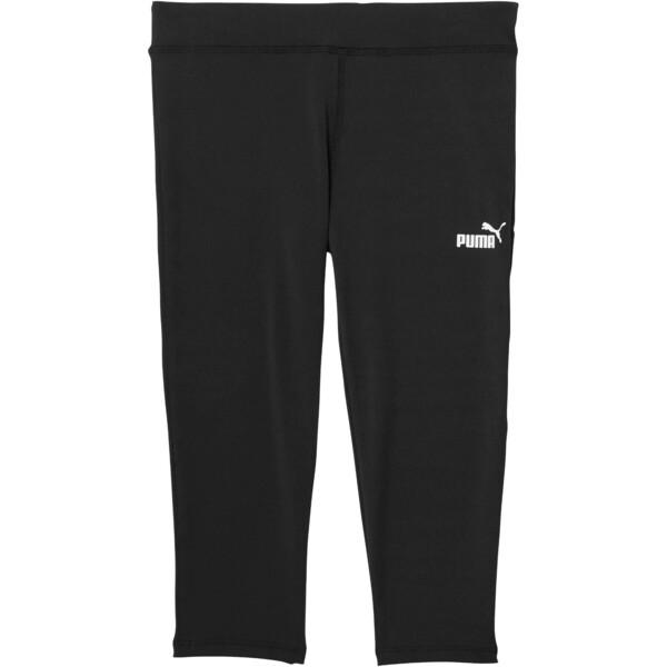 Girl's Capri Leggings JR, PUMA BLACK, large