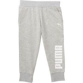 Thumbnail 1 of Little Kids' Capri Joggers, LIGHT HEATHER GREY, medium