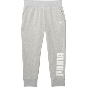 Thumbnail 1 of Girls' Capri Joggers JR, LIGHT HEATHER GREY, medium