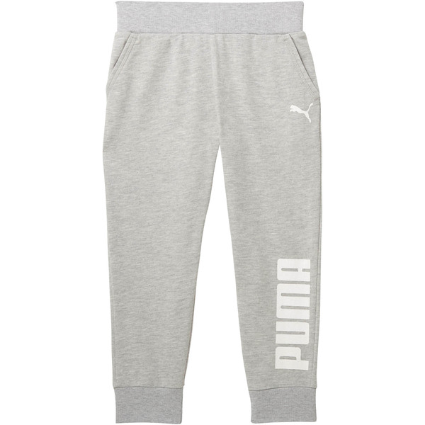 Girls' Capri Joggers JR, LIGHT HEATHER GREY, large
