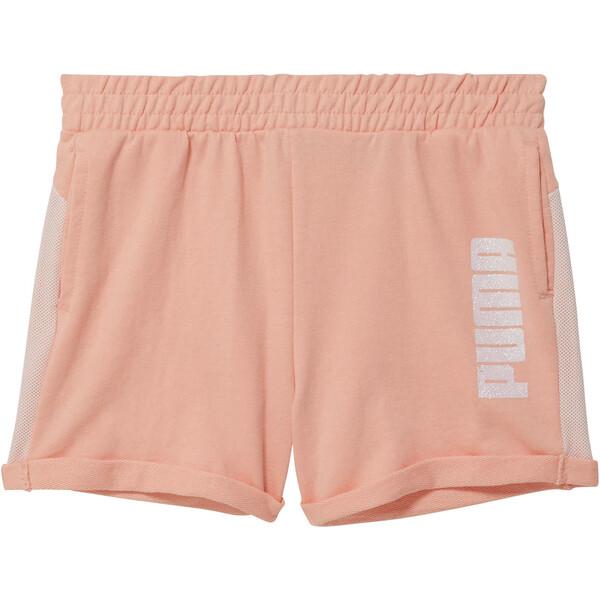 Girls' Mesh Fashion Shorts JR, PEACH BUD, large