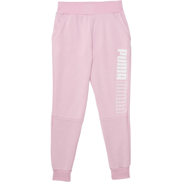 Girl's Fleece Jogger Pants JR, PALE PINK, large