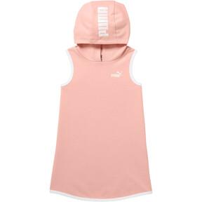 Girl's Sleeveless Hooded Dress INF