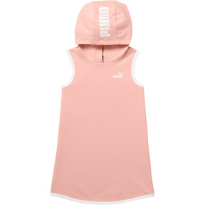 Thumbnail 1 of Toddler Sleeveless Hooded Dress, PEACH BUD, medium