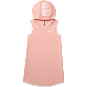 Thumbnail 1 of Little Kids' Sleeveless Hooded Dress, PEACH BUD, medium