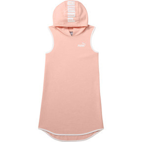 Thumbnail 1 of Girl's Sleeveless Hooded Dress JR, PEACH BUD, medium