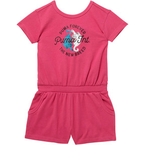 Thumbnail 1 of Toddler Surplice Back Romper, FUSCHIA PURPLE, medium