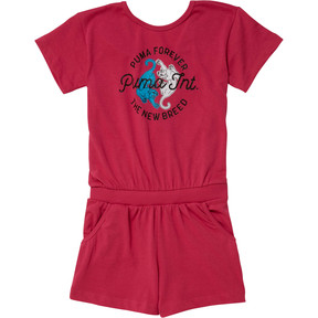 Girl's Surplice Back Romper JR