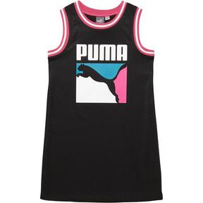 Thumbnail 1 of Girls' Mesh Jersey Dress JR, PUMA BLACK, medium