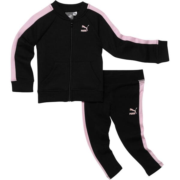 Infant + Toddler Two-Piece Set, PUMA BLACK, large