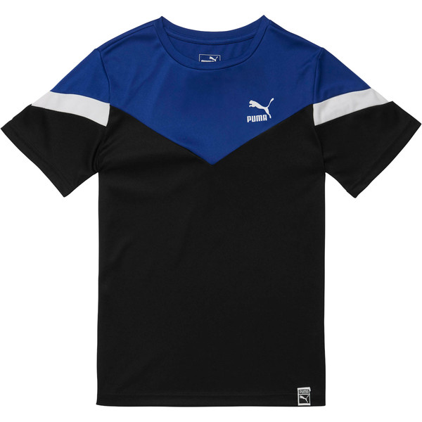 Boy's Color Block Tee JR, PUMA BLACK, large