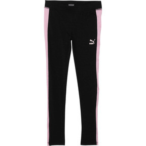 Thumbnail 1 of Girl's Spandex T7 Leggings JR, PUMA BLACK, medium