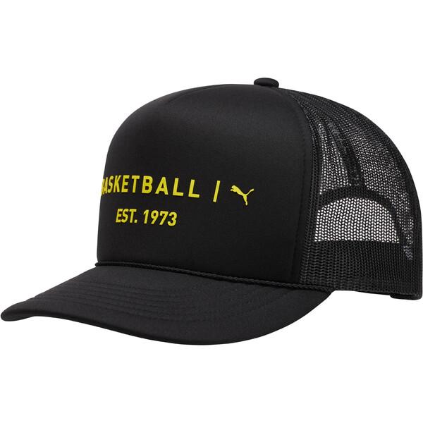 Core Mesh Trucker Hat, BLACK / YELLOW, large