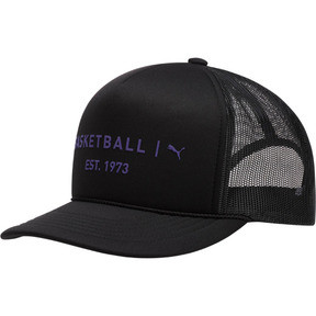 Thumbnail 1 of Core Mesh Trucker Hat, BLACK / PURPLE, medium