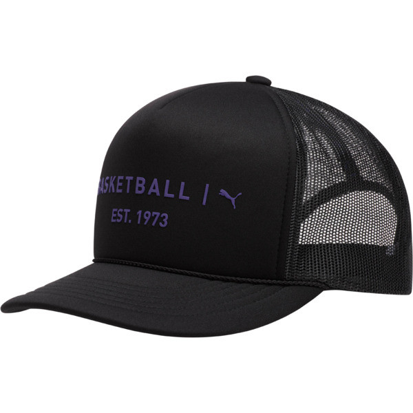Core Mesh Trucker Hat, BLACK / PURPLE, large