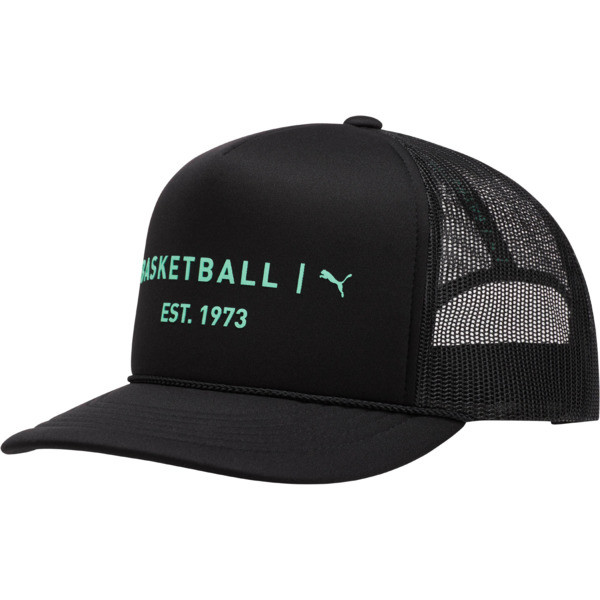 Core Mesh Trucker Hat, BLACK/GREEN, large