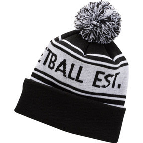 Thumbnail 1 of PUMA Basketball Pom Beanie, BLACK / WHITE, medium