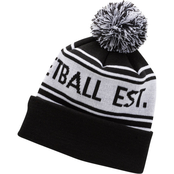 PUMA Basketball Pom Beanie, BLACK / WHITE, large
