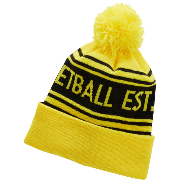 PUMA Basketball Pom Beanie, Yellow, large