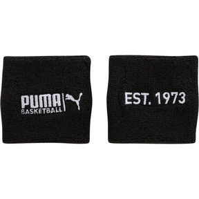 Thumbnail 1 of PUMA Basketball Sweat Wrist Bands, BLACK / WHITE, medium