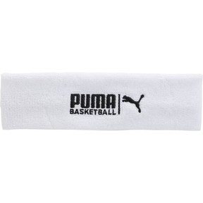 Thumbnail 1 of PUMA Basketball Sweat Headband, WHITE / BLACK, medium