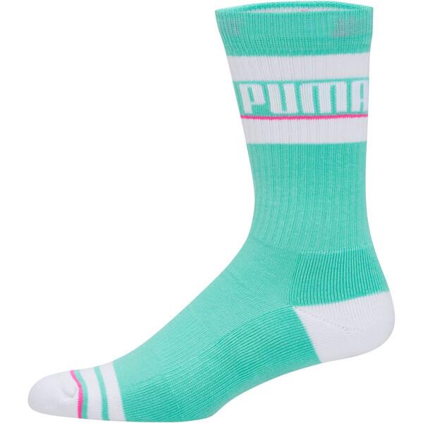Men's Tube Socks [1 Pair], GREEN / WHITE, large
