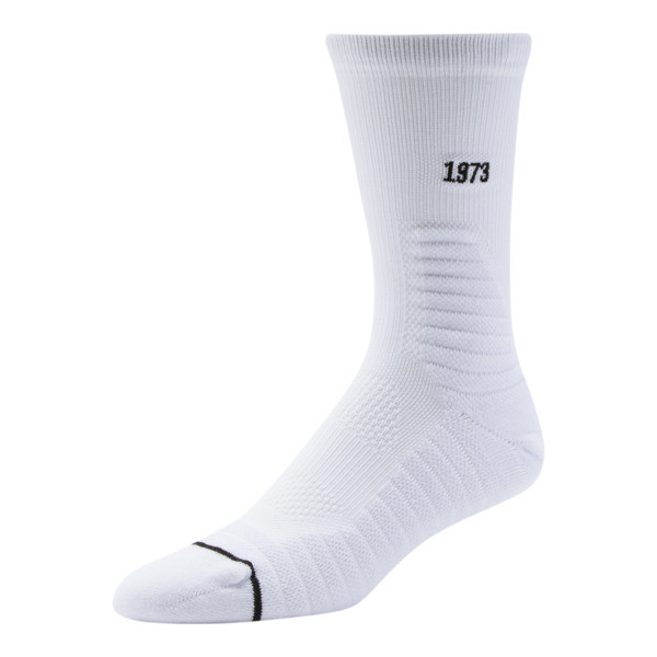 Men's Select Terry Crew Socks (1 Pack), WHITE / BLACK, large